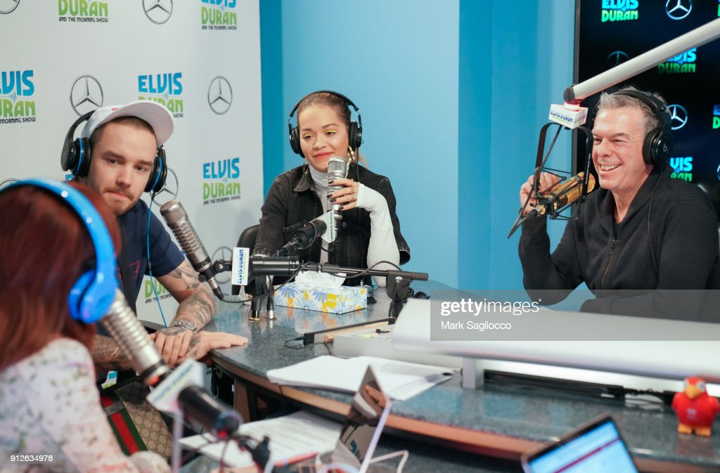 Liam Payne, Rita Ora and Elvis Duran attend 'The Elvis Duran Z100 Morning Show' at Z100 Studio on January 31, 2018 in New York City.