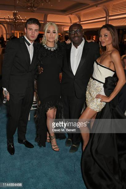 Liam Payne Rita Ora Edward Enninful and Emma Weymouth attend the 10th Annual Filmmakers Dinner hosted by Charles Finch Edward Enninful and Michael...