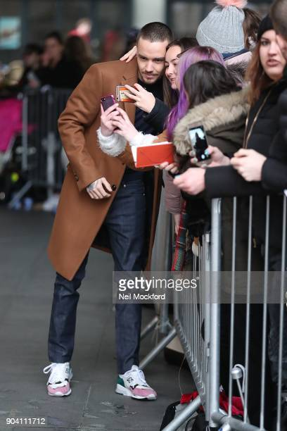 Liam Payne seen at BBC Radio One on January 12 2018 in London England