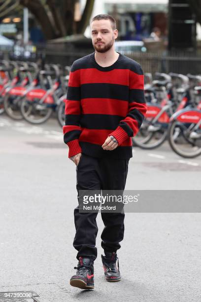 Liam Payne seen at KISS FM UK on April 17 2018 in London England