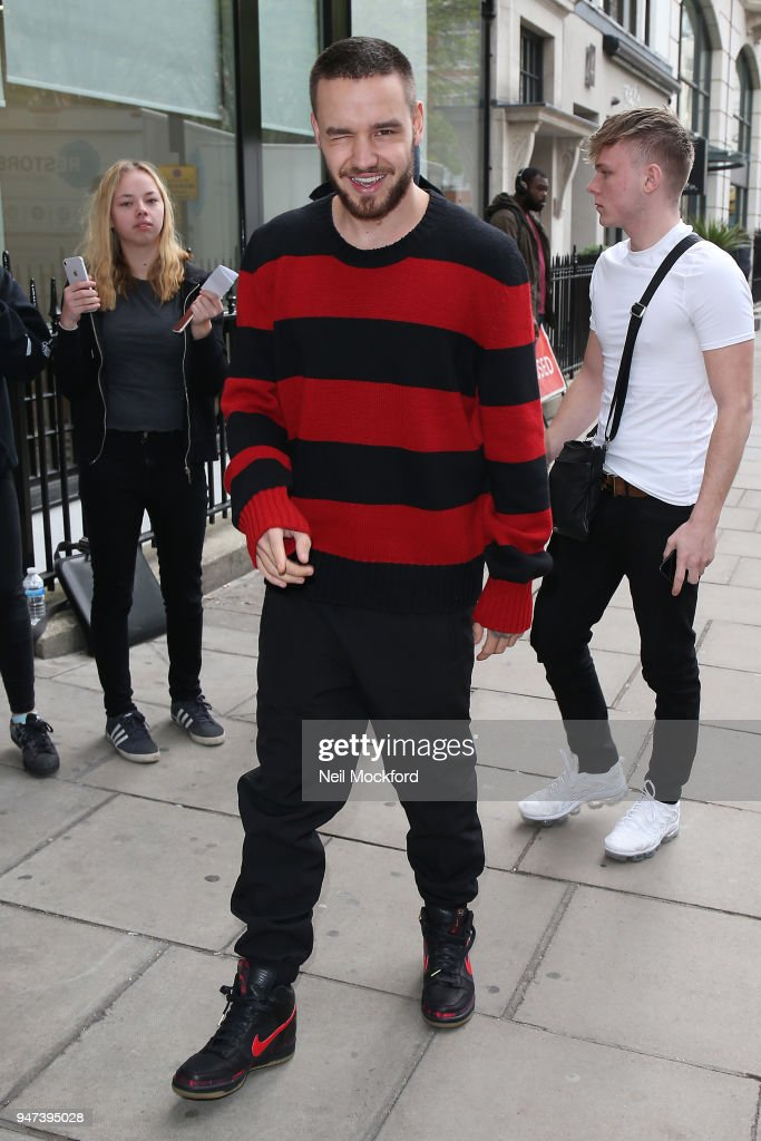 Liam Payne seen at KISS FM UK on April 17, 2018 in London, England.