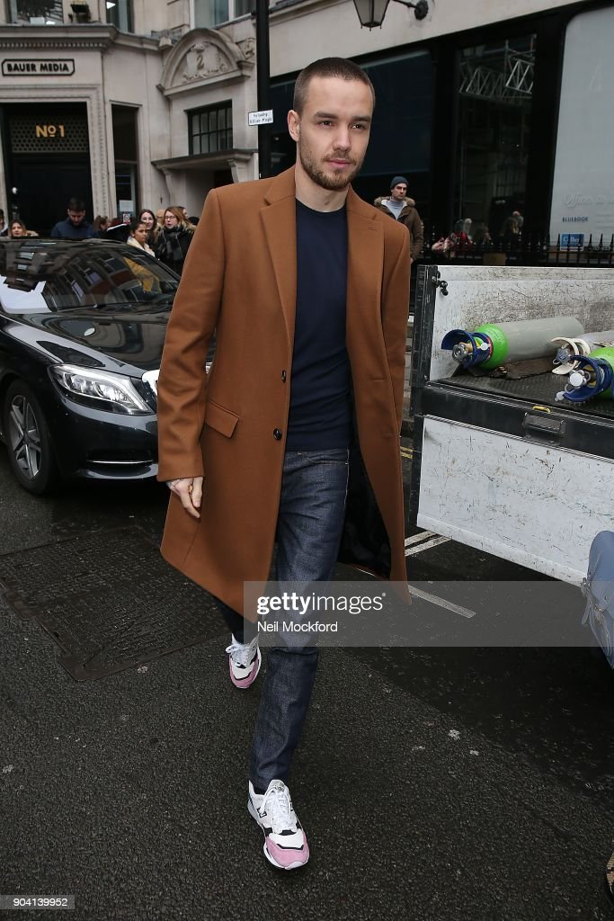 Liam Payne seen at the KISS FM UK Studios on January 12, 2018 in London, England.