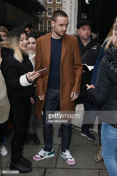 Liam Payne seen at the KISS FM UK Studios on January 12 2018 in London England