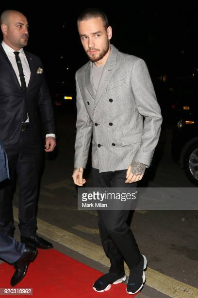 Liam Payne seen at the Vogue and Tiffany Co party at Annabel's club after attending the EE British Academy Film Awards at the Royal Albert Hall on...