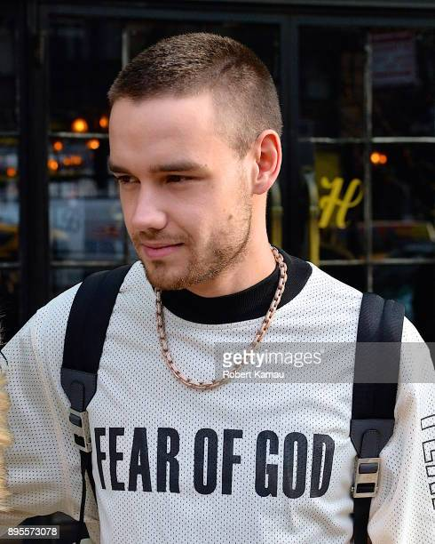 Liam Payne seen out and about in Manhattan on December 19 2017 in New York City