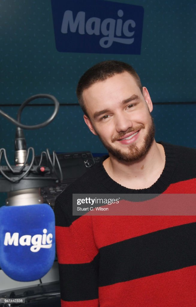Liam Payne visits Magic Radio on April 17, 2018 in London, England.