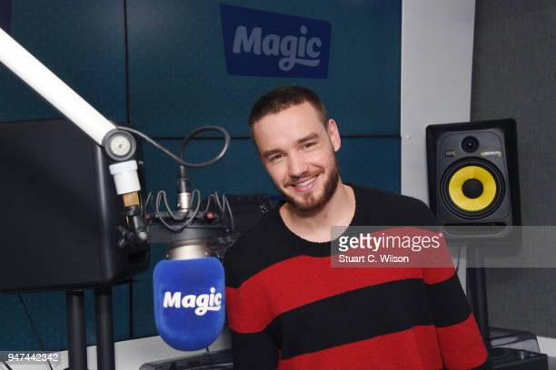 Liam Payne visits Magic Radio on April 17 2018 in London England
