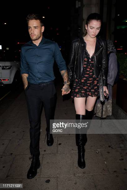 Liam Payne walking hand in hand with mystery girl in Mayfair on August 30 2019 in London England