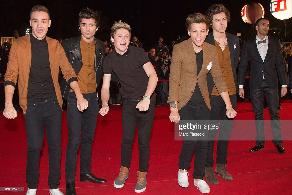 Liam Payne, Zayn Malik, Niall Horan, Louis Tomlinson and Harry Styles from the band One Directionattend the NRJ Music Awards 2013 at Palais des Festivals on January 26, 2013 in Cannes, France.