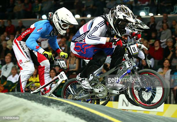 Liam Phillips of Great Britain in action during day five of the UCI BMX World Championships at Vector Arena on July 28 2013 in Auckland New Zealand