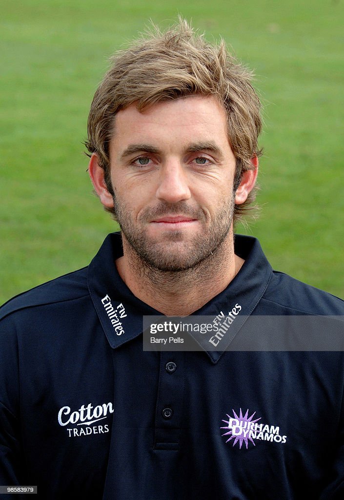 Liam Plunkett of Durham poses for a portrait during the Durham CCC photocall at the Riverside on April 6, 2010 in Chester-Le-Street, England.