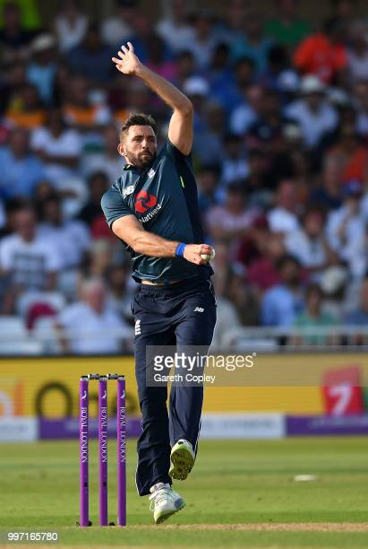 Liam Plunkett of England bowls during the Royal London OneDay match between England and India at Trent Bridge on July 12 2018 in Nottingham England
