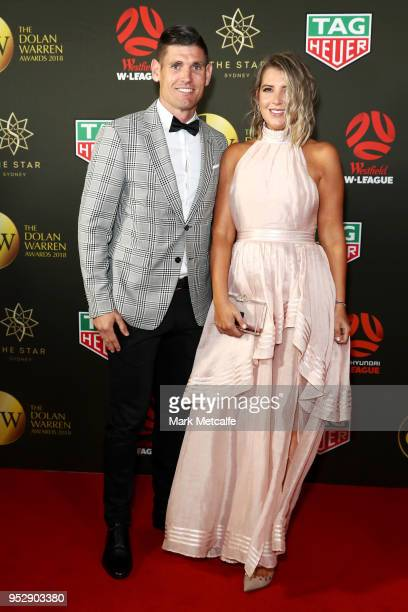 Liam Reddy and Christie Reddy arrive ahead of the FFA Dolan Warren Awards at The Star on April 30 2018 in Sydney Australia