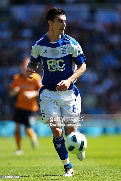 Liam Ridgewell of Birmingham in action during the Barclays Premier League match between Birmingham City and Wolverhampton Wanderers at St Andrews on...