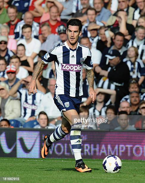 Liam Ridgewell of West Bromwich Albion during the Barclays Premier League match between West Bromwich Albion and Sunderland at The Hawthorns on...