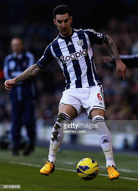 Liam Ridgewell of West Bromwich Albion in action during the Barclays Premier League match between West Bromwich Albion and Sunderland at The...