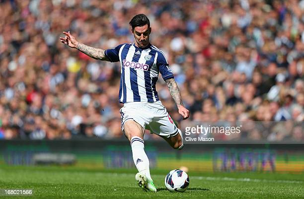 Liam Ridgewell of West Bromwich Albion in action during the Barclays Premier League match between West Bromwich Albion and Wigan Athletic at The...