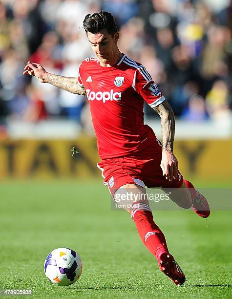 Liam Ridgewell of West Bromwich Albion in action during the Barclays Premier League match between Swansea City and West Bromwich Albion at Liberty...