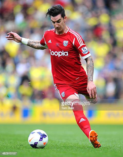 Liam Ridgewell of West Bromwich Albion in action during the Barclays Premier League match between Norwich City and West Bromwich Albion at Carrow...