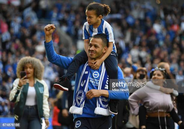 Liam Rosenior of Brighton and Hove Albion salutes the fans after the Sky Bet Championship match between Brighton & Hove Albion and Bristol City at...