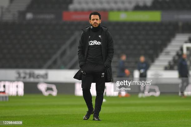Liam Rosenior of Derby County during the Sky Bet Championship match between Derby County and Wycombe Wanderers at the Pride Park, Derby on Saturday...