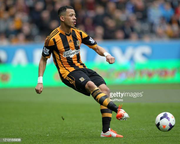 Liam Rosenior of Hull City during the Premier League match between Hull City and Manchester City at the KC Stadium, Kingston upon Hull on Saturday...