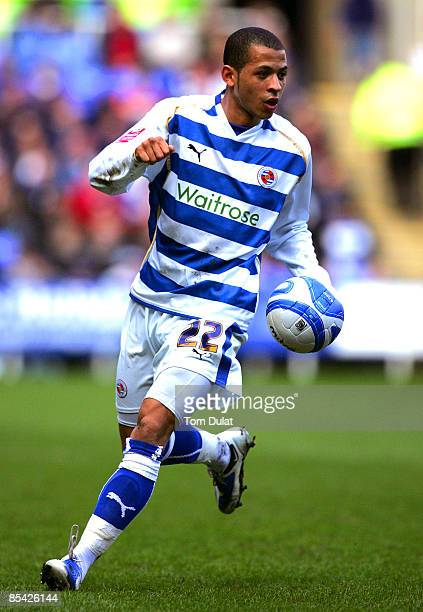 Liam Rosenior of Reading in action during the CocaCola Championship match between Reading and Ipswich Town at the Madejski Stadium on March 14 2009...