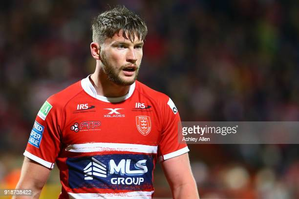 Liam Salter of Hull KR during the BetFred Super League match between Hull KR and Catalans Dragons at KCOM Craven Park on February 15 2018 in Hull...