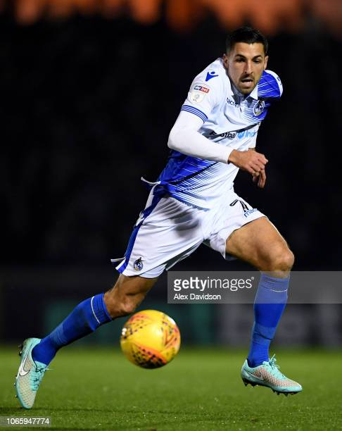 Liam Sercombe of Bristol Rovers in action during the Sky Bet League One match between Bristol Rovers and Gillingham at the Memorial Stadium on...