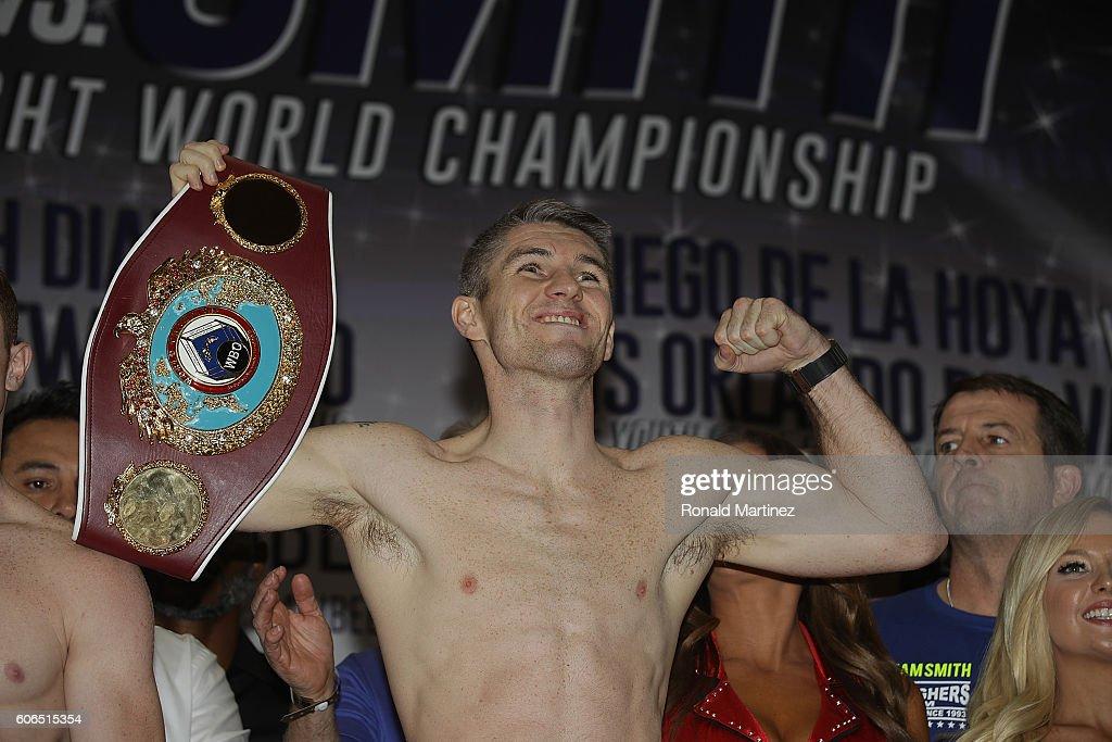 Canelo Alvarez v Liam Smith - Weigh-in : News Photo