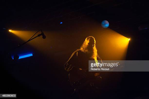 Liam Tyson of Cast performs on stage at The Liquid Room on December 12 2014 in Edinburgh United Kingdom