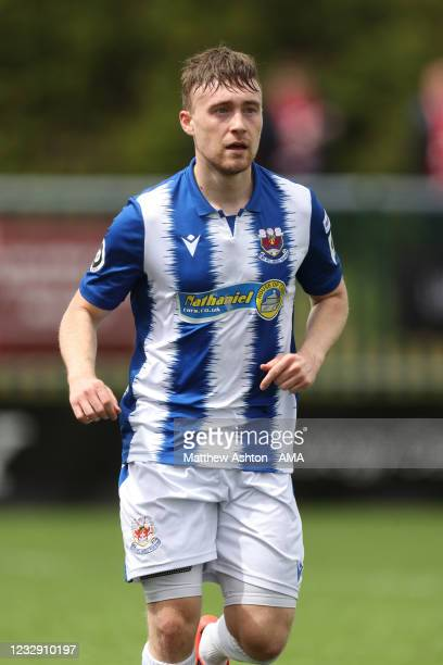 Liam Walsh of Penybont FC during the Cymru Welsh Premier League match between Penybont and Connah's Quay Nomads at The SDM Glass Stadium on May 15,...