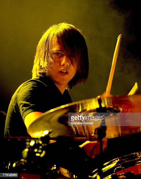 Liam Watts of The Enemy performs at Evening News Arena on November 7 2007 in Manchester England