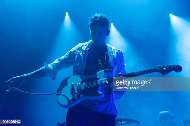 Liam Willford of Coasts performs on stage at O2 Academy Glasgow on January 9 2018 in Glasgow Scotland