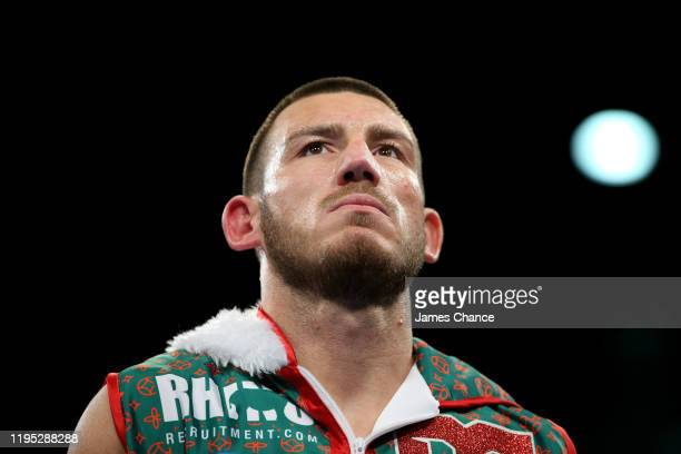 Liam Williams during the WBO Intercontinental Title and Final Elminator for the WBO World Middleweight Title fight between Liam Williams and Alantez...