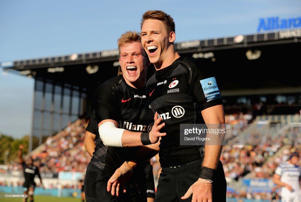 Saracens v Bath Rugby - Gallagher Premiership Rugby : News Photo