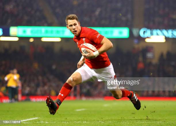 Liam Williams of Wales goes through to score his sides second try during the International Friendly match between Wales and South Africa on November...