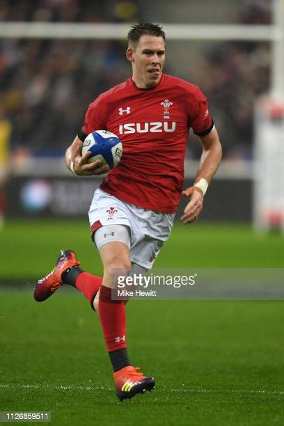 Liam Williams of Wales in action during the Guinness Six Nations match between France and Wales at Stade de France on February 01 2019 in Paris France