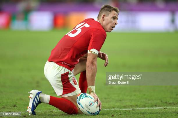Liam Williams of Wales looks on dejected during the Rugby World Cup 2019 Quarter Final match between Wales and France at Oita Stadium on October 20...