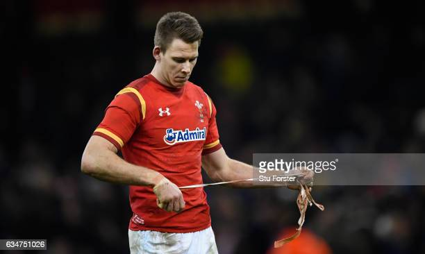 Liam Williams of Wales reacts after the RBS Six Nations match between Wales and England at Principality Stadium on February 11 2017 in Cardiff Wales