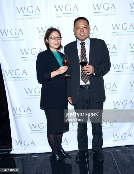 Lian Fang and Andy Zhong attend Launch Of New Entity Withers Global Advisors at 432 Park Avenue on April 3 2018 in New York City Lian FangAndy Zhong
