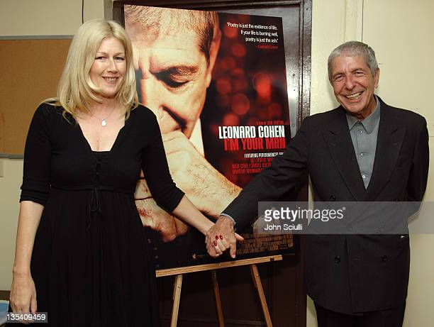 Lian Lunson director and Leonard Cohen during 2006 Los Angeles Film Festival 'Leonard Cohen I'm Your Man' at John Ansen Ford Amphitheater in...