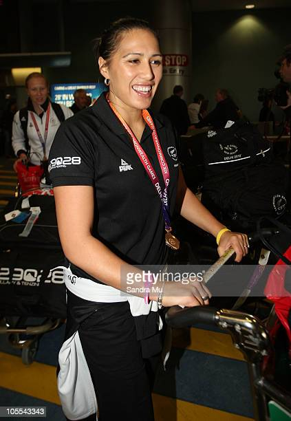 Liana BarrettChase of the New Zealand Silver Ferns arrives at Auckland International Airport on October 16 2010 in Auckland New Zealand The Silver...