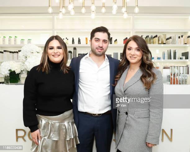 Liana Davydova Roman K Salon owners Rachel Shimanova and Roman Kusayev attend the Roman K Salon Madison Avenue Opening on November 21 2019 in New...