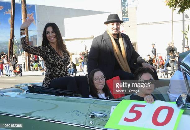 Liana Mendoza Adam Mendoza Jamie Mendoza and Vicki Mendoza attend The 51st Annual Pacoima Holiday Parade on December 8 2018 in Pacoima California