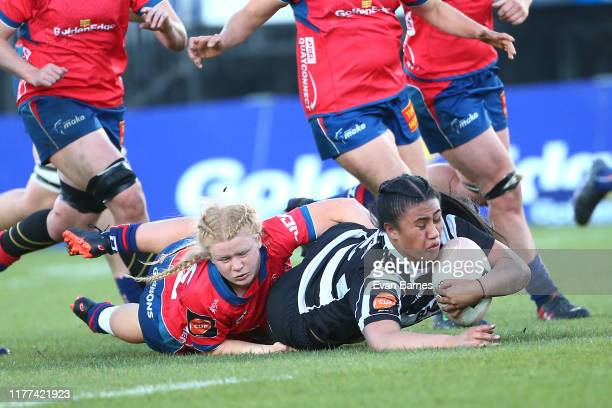 Liana Mikaele-Tu'u during the round 5 Farah Palmer Cup match between Tasman and Hawkes Bay at Trafalgar Park on September 27, 2019 in Nelson, New...
