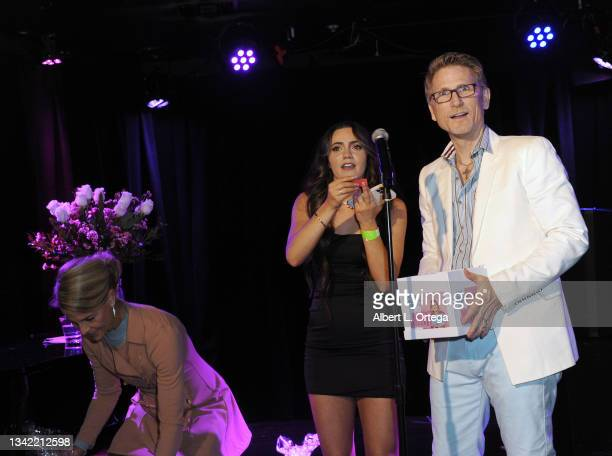 Liana Ramirez and Robert Patteri participate in the EP Release Party for Jade Patteri held at The Federal NoHo on September 21, 2021 in North...