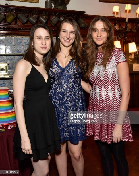 Liana Sonenclar Leah Lane and Marina Zurita attend Afternoon Tea at The Players Club on February 3 2018 in New York City
