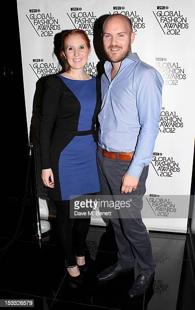 Liane Corbett and Jonathan Abbott attend the WGSN Global Fashion Awards 2012 shortlist announcement reception at W London Leicester Square on October...