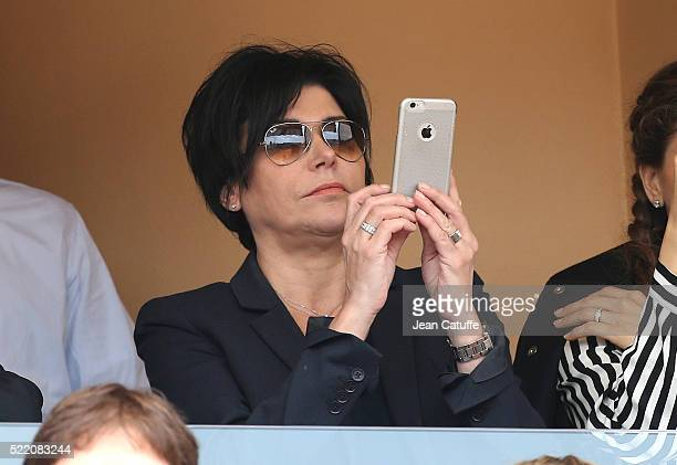 Liane Foly attends the final of the 2016 MonteCarlo Rolex Masters at MonteCarlo Country Club on April 17 2016 in MonteCarlo Monaco